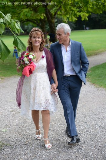 en route pour le mariage en Isère à Saint Martin d Uriage