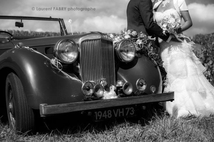 photo de détail de mariage en noir et blanc (Les Marches, Savoie)