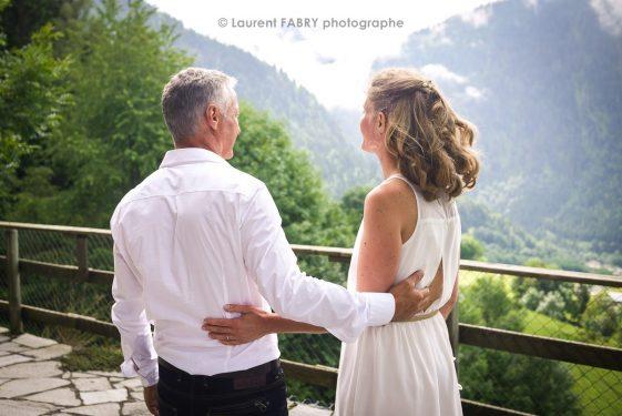 en route pour le mariage dans le Beaufortain, Savoie