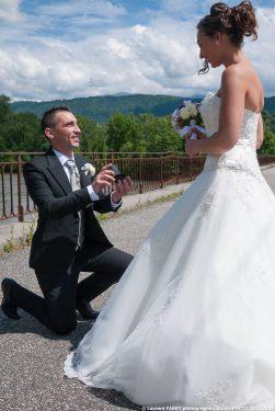 demande en mariage sur le pont Morrens à Montmélian, Savoie (73)