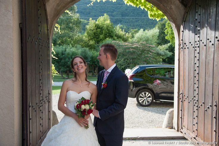 mariage à Cruet (vin d honneur au Château de la Rive)