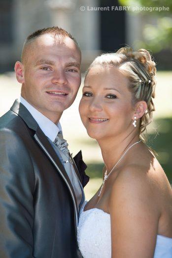 portrait serré des mariés avant leur mariage en Isère près de Pont de Beauvoisin