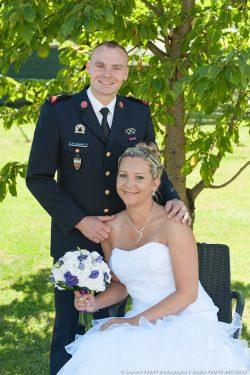 portrait en tenue de pompier professionnel pour le marié