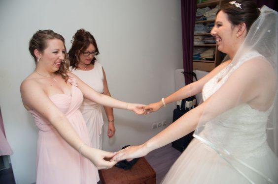 la mariée enfin prête