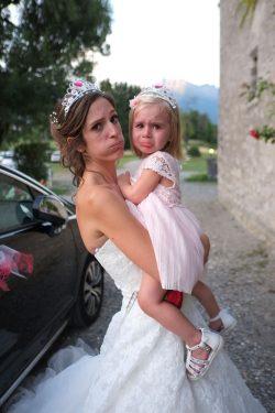 fin de journée crevante pour les mini mariées