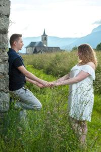 Séance en Combe de Savoie avant le mariage en Tarentaise