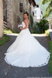 Photo de la mariée lors de son Mariage à Montmélian