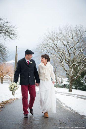 décor hivernal pour ce mariage en Haute Savoie