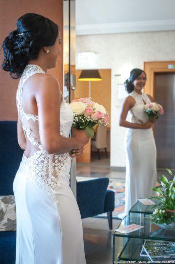 la mariée devant le miroir, Imperial Palace, Annecy, Haute Savoie