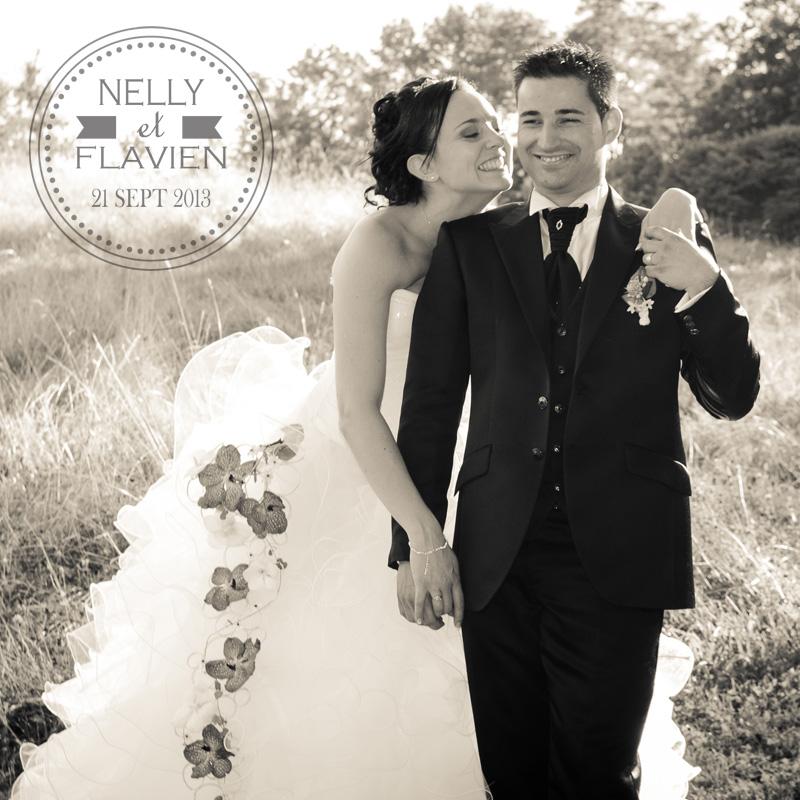 Photographe de mariage à Chambéry : photo de couple dans le parc de Buisson Rond en couverture d album