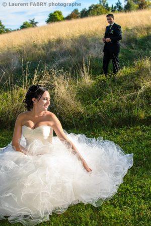 la mariée attend son époux, mariage à Chambéry, mariage en Savoie