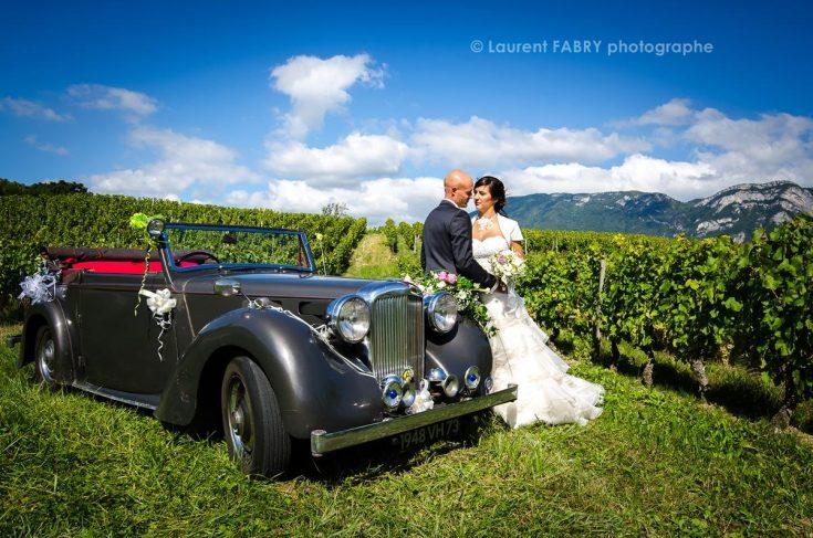 décor champêtre et viticole pour ce mariage estival en Savoie, photographe professionnel 73