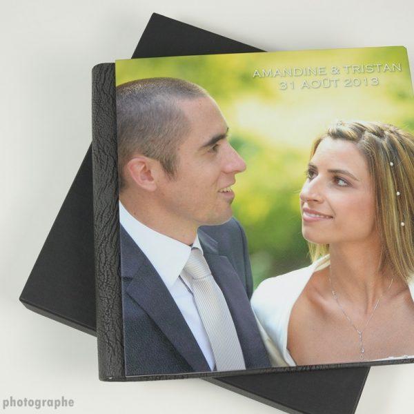 album de mariage et sa boîte