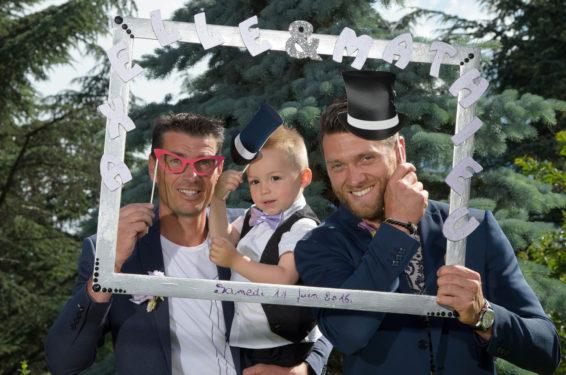 photo avec un cadre lors du mariage sur Montmélian, Savoie (73)