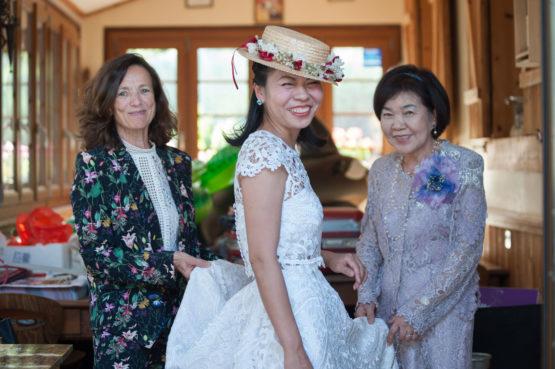 le chapeau de la mariée