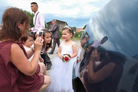 Une mini mariée ! (mariage près de Chambéry)