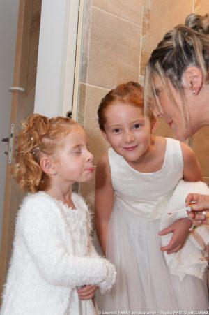 Make up pour les filles de la mariée (mariage en Combe de Savoie)