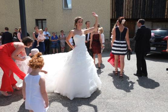 le salut de la mariée