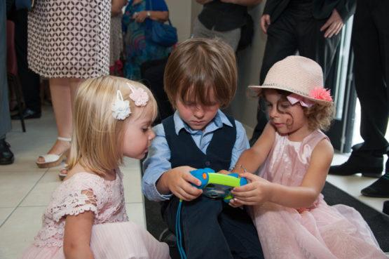 Jeux vidéo pendant la cérémonie (mariage à Chambéry)