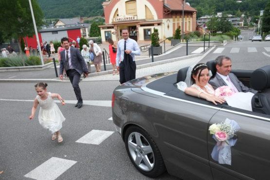 le carrosse de la mariée : cabriolet
