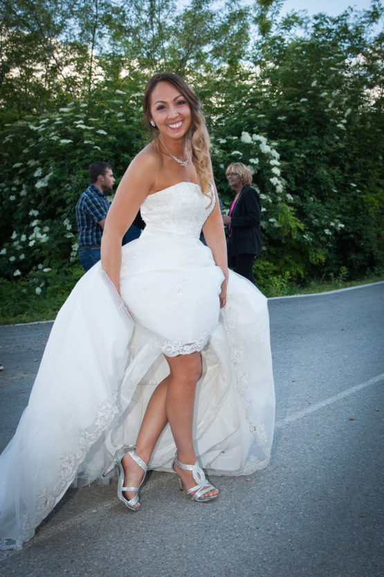 la jarretière de la mariée