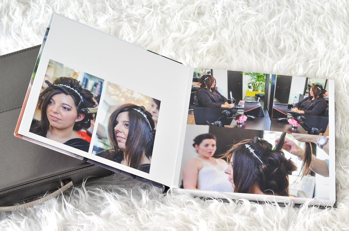 Préparation de la mariée avec sa sœur jumelle au salon de coiffure dJack Relook à Challes-les-Eaux
