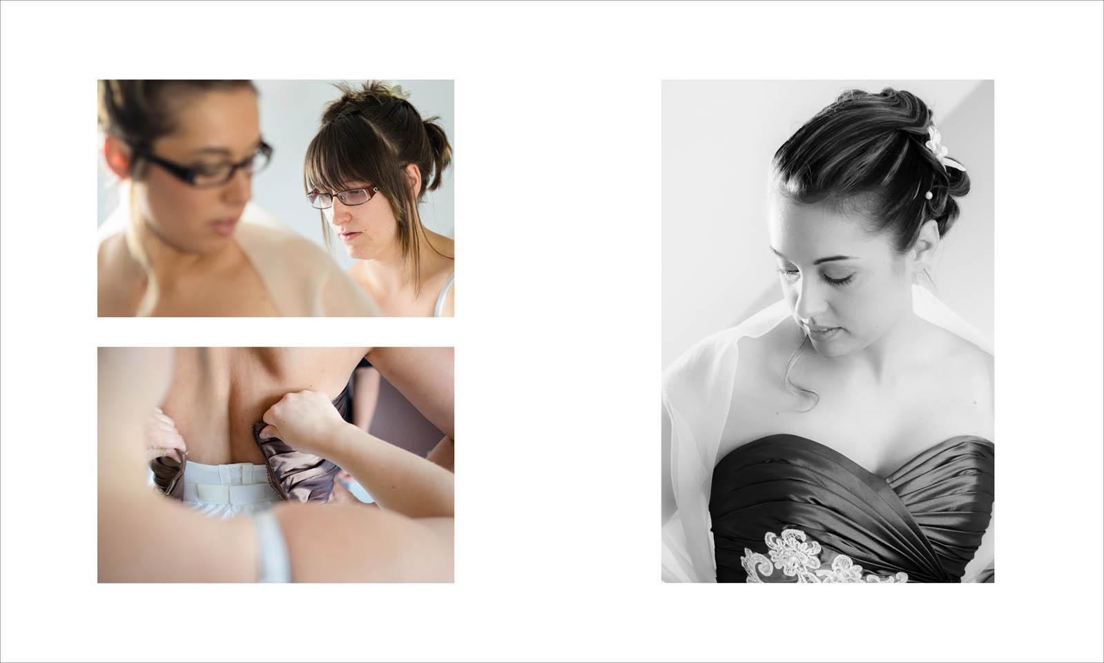 Mariage en Maurienne : préparation de la mariée