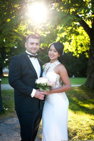 les mariés dans les jardins, Imperial Palace, Annecy, Haute Savoie