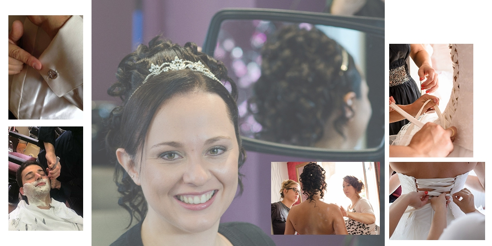 Photographe de mariage à Chambéry : préparation des mariés