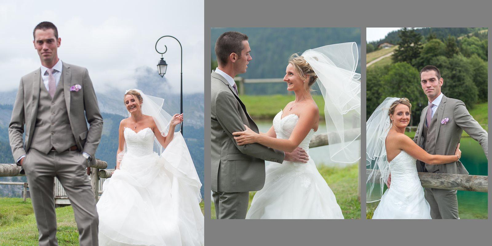 mariage dans une station du Val d Arly : premier regard entre les mariés