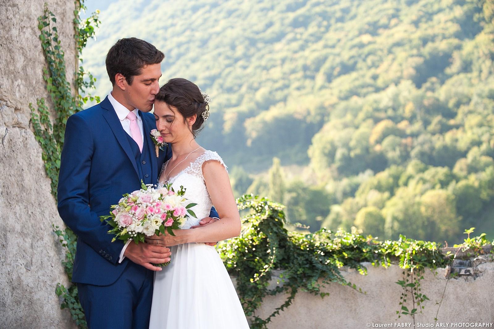 Photographe mariage en Savoie : portrait des mariés